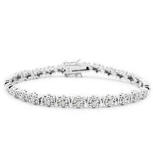 GENUINE 1/2CT Diamond Flower Bracelet